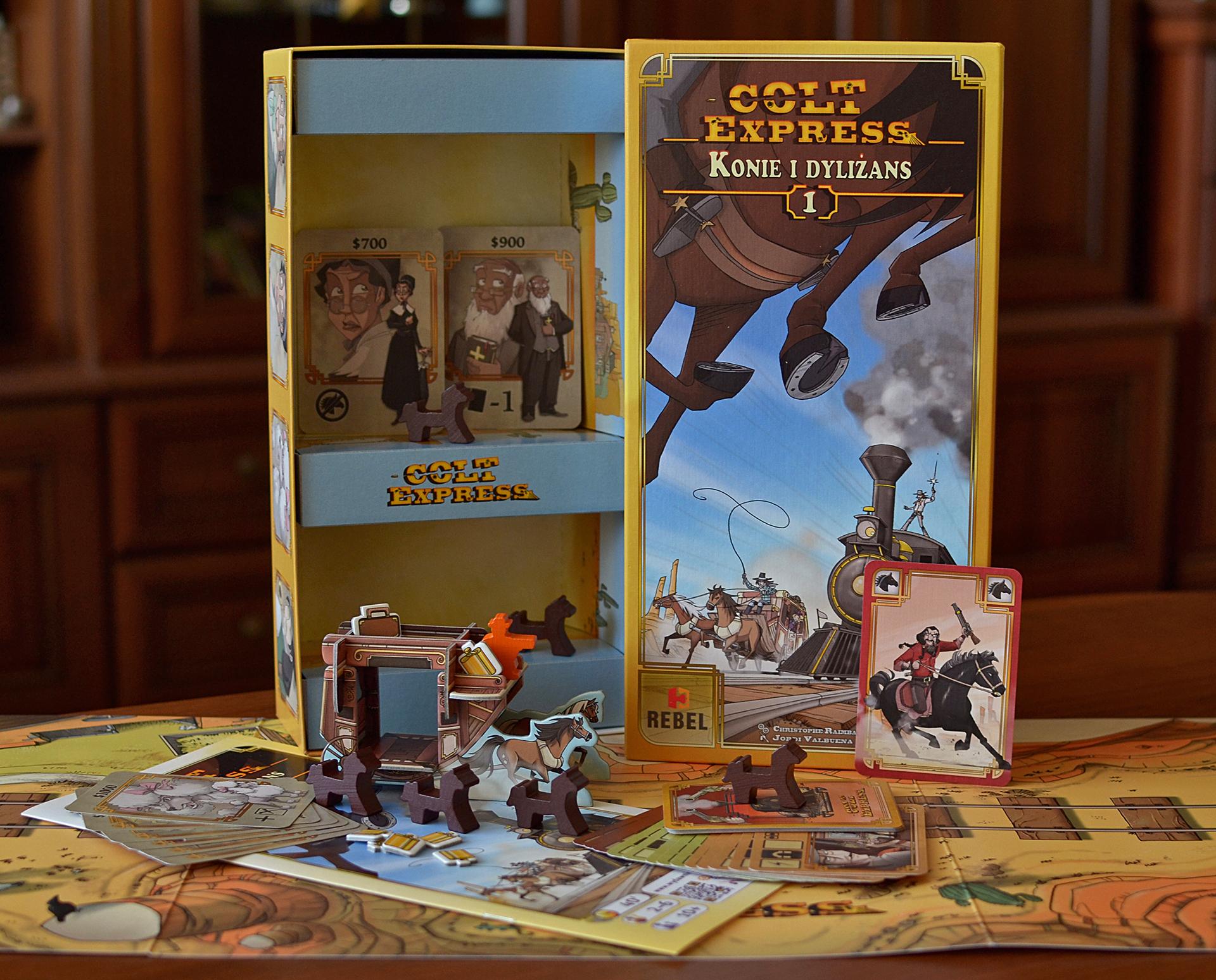 Colt Express: Konie i dyliżans REBEL GRY Karty i gry karciane
